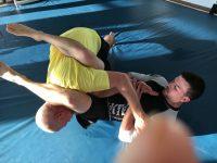 Krav Maga Students Practice BJJ Armbar