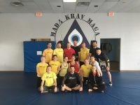 Yellow Belts before Orange Belt Testing in Krav Maga